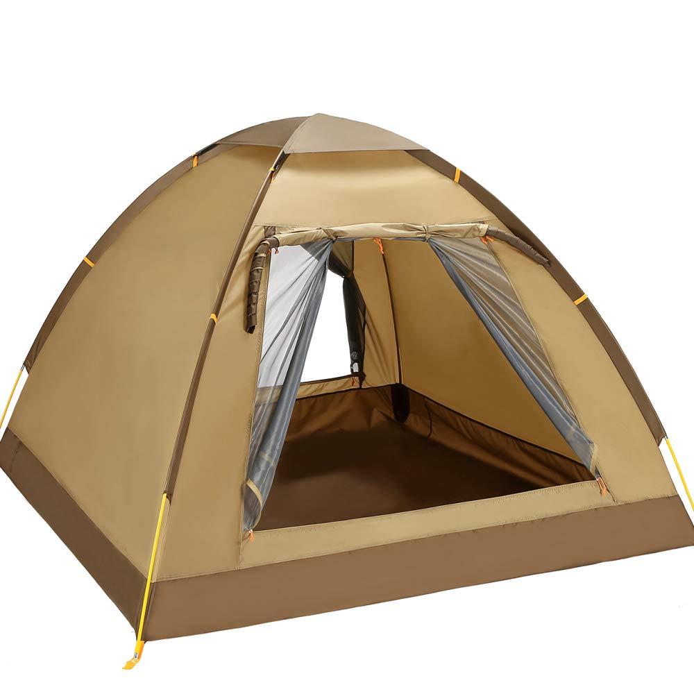 LBAFS Automatisches Zelt Im Freien Regendicht Anti-UV Für Feld-kampierenden Tourismus-Strand-Fischen-Park, 3 Person,Braun