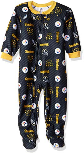 NFL Pittsburgh Steelers Unisex Blanket Sleeper, Black, 2T