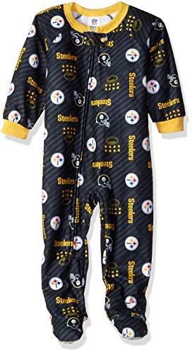 (NFL Pittsburgh Steelers Unisex Blanket Sleeper, Black, 2T)