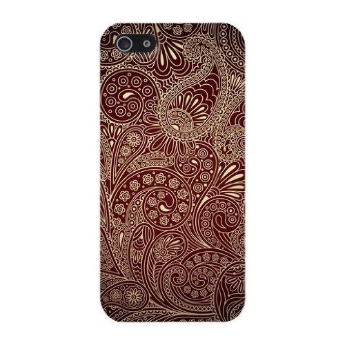 Brown Paisley Phone Case Custom Well-designed Hard Case Cover Protector For Iphone 5 5s