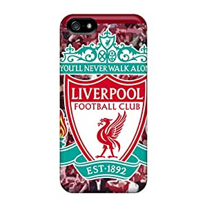 New Winvin Super Strong Liverpool Fc Logo Tpu Case Cover For Iphone 5/5s