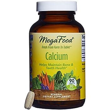 MegaFood - Calcium, Supports Healthy Bones & Teeth, 90 Tablets (FFP)