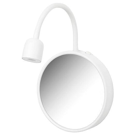 Ikea LED blavik - Lámpara de pared con espejo; en blanco ...