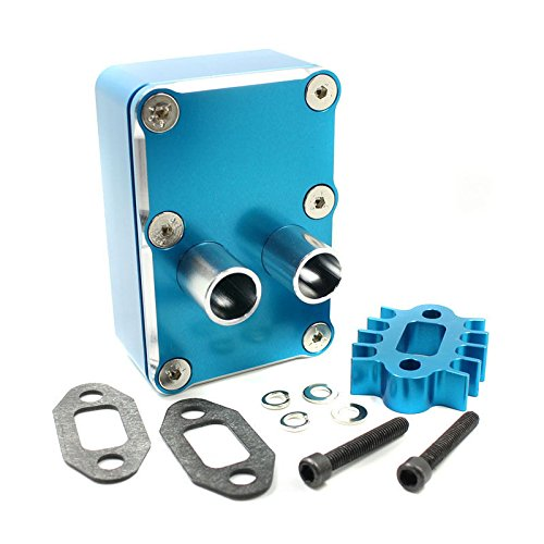 Toyoutdoorparts RC Car Engine Exhaust Radiating kit Fit HPI Baja 5b 5t 5sc Losi 5IVE-T Upgrade (Blue)