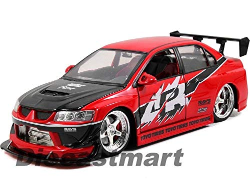MWDx102 1:18 Fast & Furious SEAN'S Mitsubishi Lancer EVO VIII DIECAST CAR RED 97179