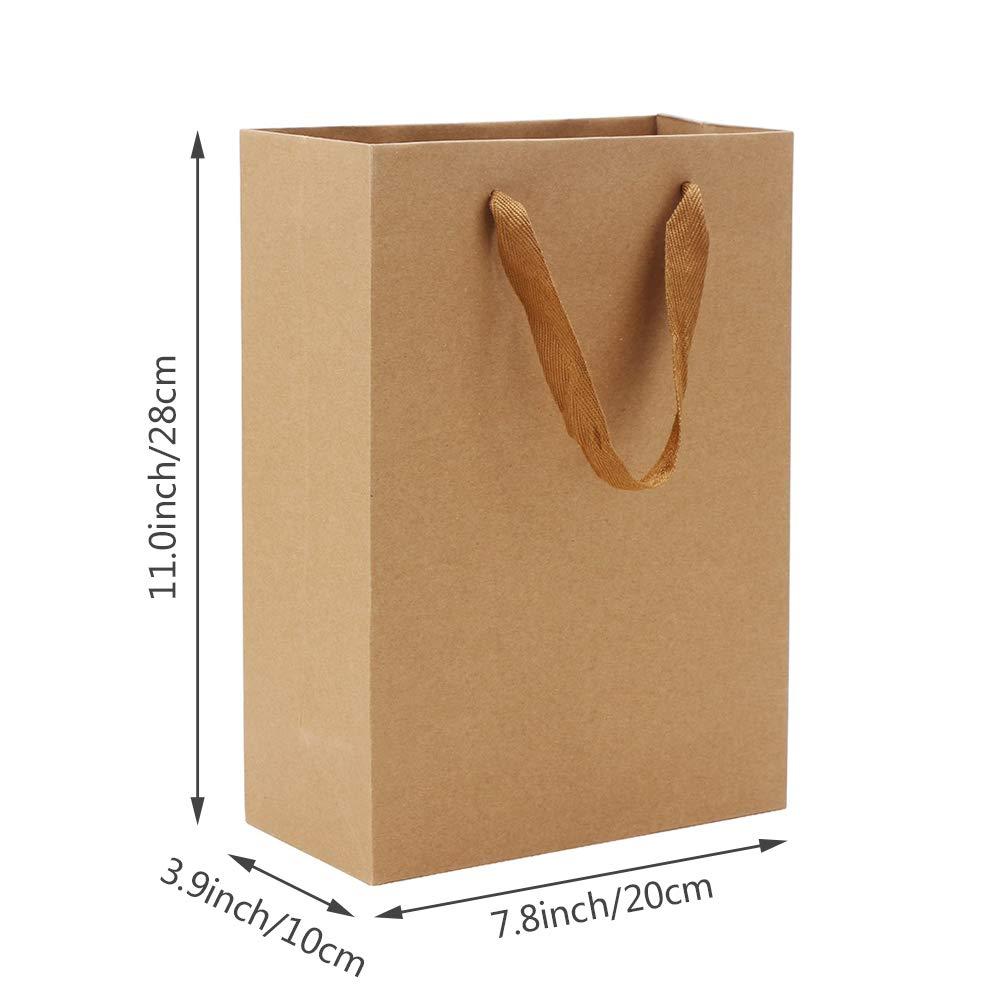Amazon.com: Eusoar - Bolsas de papel kraft (25 unidades, con ...