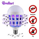 Brellavi Bug Zapper Light Bulb, UV LED Mosquito Killer, 2 in 1 Bug Zapper Bulb, Electronic Mosquito Killer, Upgraded Bug Zapper for Home, Best Bug Zapper and Mosquito Killer for Indoor and Outdoor