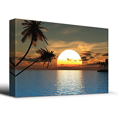 wall26 Tropical Sunset Blue Water Endless Summer - Canvas Art Home Decor - 24x36 inches (Tropical Sunset Pictures)