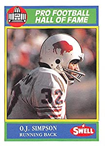O.J. Simpson football card (Buffalo Bills The Juice) 1990 Swell Hall of Fame #127