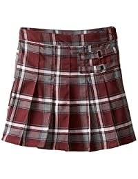 French Toast Big Girls' Plaid Pleated Scooter