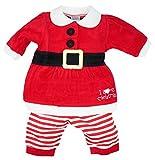 Baby Mädchen Strampler für Nikolaus Weihnachten Hose + Tunika aus Nicki Gr. 50/56 (NB)