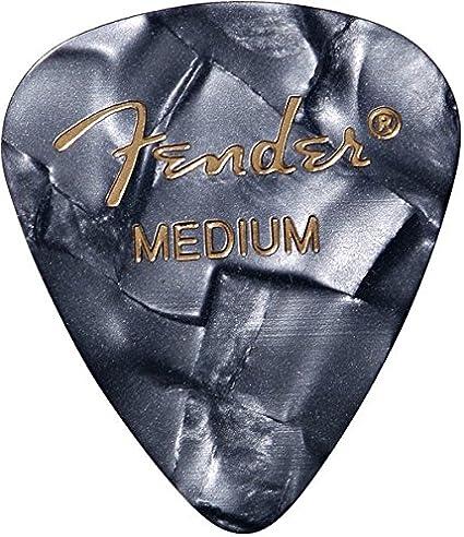 MEDIUM 144-Pack Fender 351 Premium Celluloid Picks BLACK MOTO 1 Gross