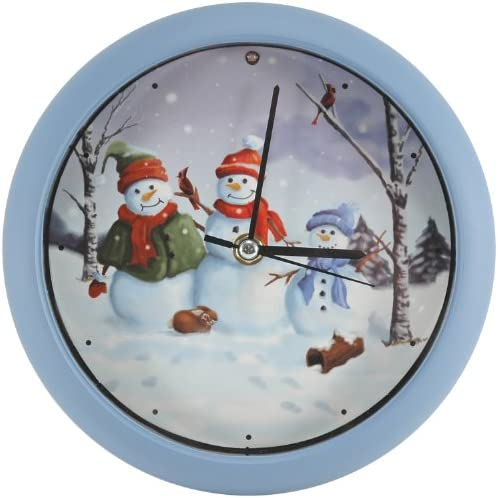 Snow Family 8 Christmas Carol Clock can Play Songs on the Hour
