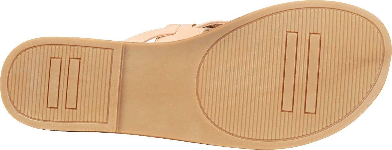Cambridge Select Womens Thong Slip-On Flip-Flop Strappy Flat Slide Sandal