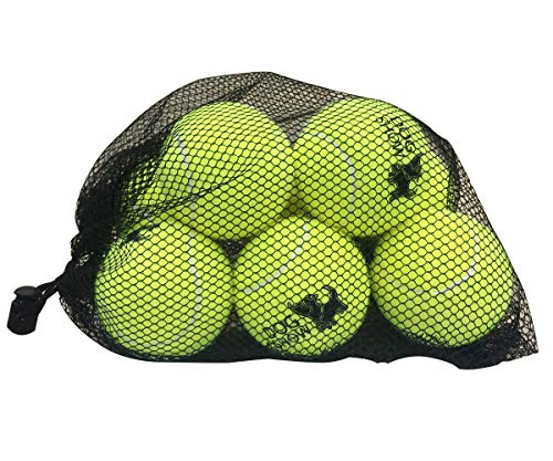 weierfu 8 PCS Tennis Ball for Dogs,Dog Tennis Balls with Mesh Bag for Medium Small Dogs,Dog Training Balls-Yellow-2.5