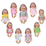 Huang Cheng Toys 9 PCS Baby Doll Reborn Newborn Clothes Dress for 12 Inch Doll