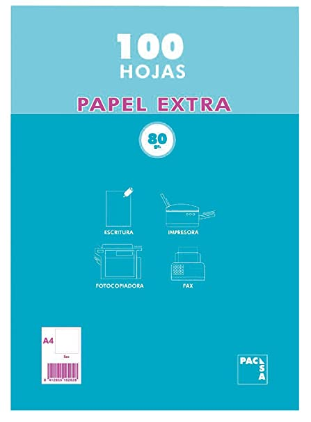 Amazon.com : Pacsa 21811 - Package 100 Sheets, A4, 80g ...