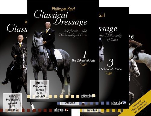 Classical Dressage ; The Philosophy of Ease : Vol. 1-4 by Philippe Karl - DVD Set of 4 by