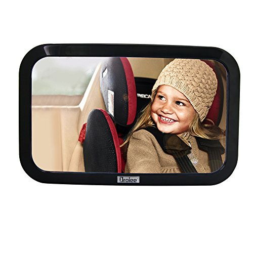 Droiee Baby Back Seat Mirror [Shatterproof Glass] the Best Baby Car Mirror Rear Facing [With Cleaning Cloth &...