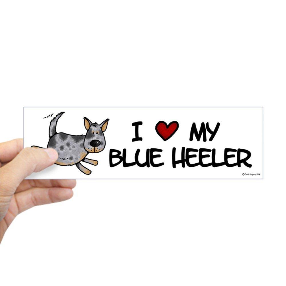 当店在庫してます! CafePress – I Love My Blue Heelerバンパーステッカー – – 028660195733332 10 Blue