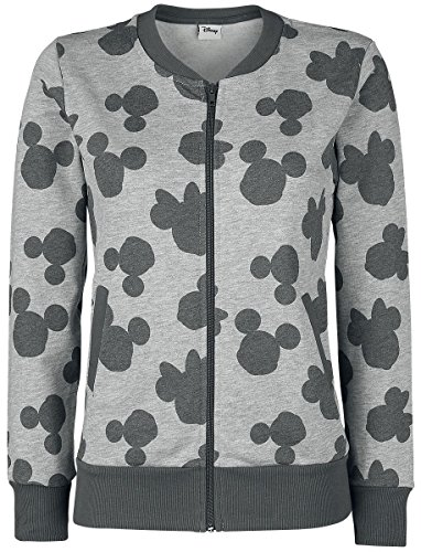 Mickey & Minnie Mouse All-Over Veste Femme Gris chin
