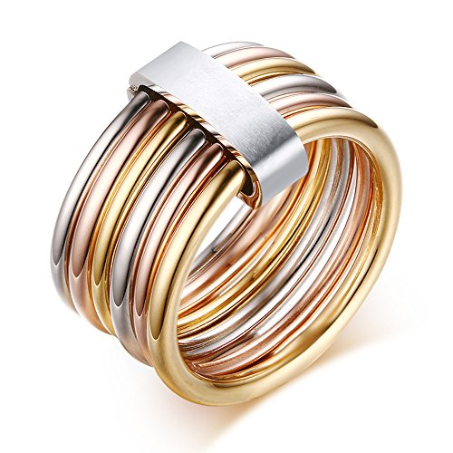 Stainless Gold Infinity Ring - 8