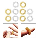 OFKPO 10 PCS Acupressure Finger Massage Rings Finger Relax Hand Massager Acupressure Massage Rings