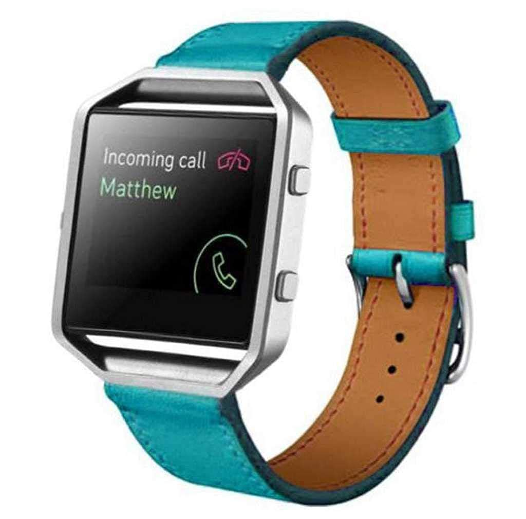 Cinturino alla moda Scpink Cinturino dellorologio di ricambio cinturino di ricambio in vera pelle per bracciale FB Blaze Smart Fitness