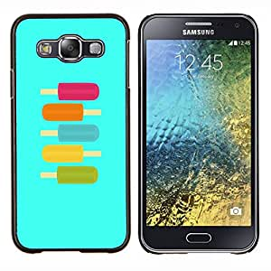 - ice-cream teal purple green summer sweet - - Modelo de la piel protectora de la cubierta del caso FOR Samsung Galaxy E5 E500 RetroCandy