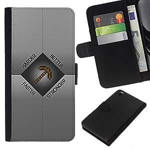 Protector de cuero de la PU de la cubierta del estilo de la carpeta del tirón BY RAYDREAMMM - HTC DESIRE 816 - Mejore más difícilmente más M1Necraft