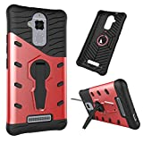 Zenfone3 MAX ZC520TL Case,Heavy Duty Armor [Kickstand] [ArmorBox] [Dual Layer] Hybrid Shock Proof Rugged Case Shell Cover Bummper for ASUS Zenfone 3 Max ZC520TL 5.2 inch (red) -  leiminger