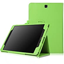 FanTEK Samsung Galaxy Tab A 8.0 SM-T350 8-Inch Tablet Case - PU Leather Multi-Angle Stand Auto Sleep Wake Magnetic Smart Cover (Green)