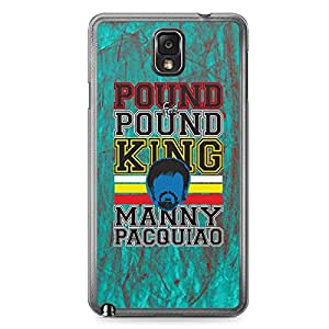 Manny Pacquiao Samsung Note 3 Transparent Edge Case - Pound for Pound King