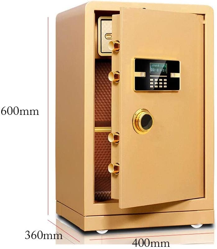 Caja Fuerte Sólida de acero biométrico de huellas dactilares caja de seguridad ignífuga y resistente al agua segura for el hogar, negocios, oficinas, hoteles, Proteger dinero, joyas, pasaportes Cajas: Amazon.es: Hogar