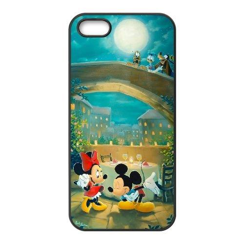 Mickey And Minnie 002 coque iPhone 4 4S Housse téléphone Noir de couverture de cas coque EOKXLKNBC26555