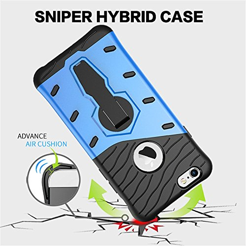 Shockproof iPhone Case - Sniper Armor protector iPhone Case - iPhone case with Kickstand - Has Dual Layers Protection with Stylish and Fashionable Look - Perfect Fit - New 2017 Lightweight Sniper Desi