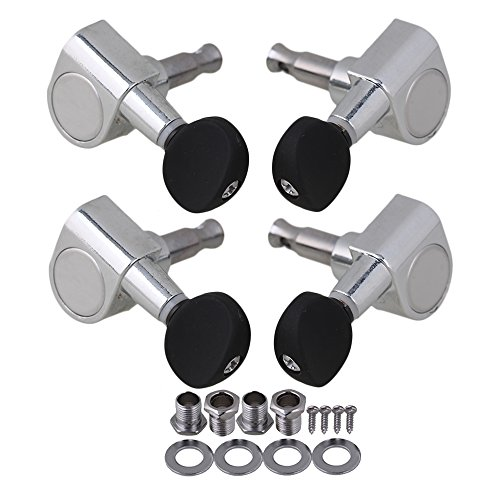 Geared Tuners (BQLZR Ukulele 2R2L Chrome Geared Machine Heads with Mounting Screws)