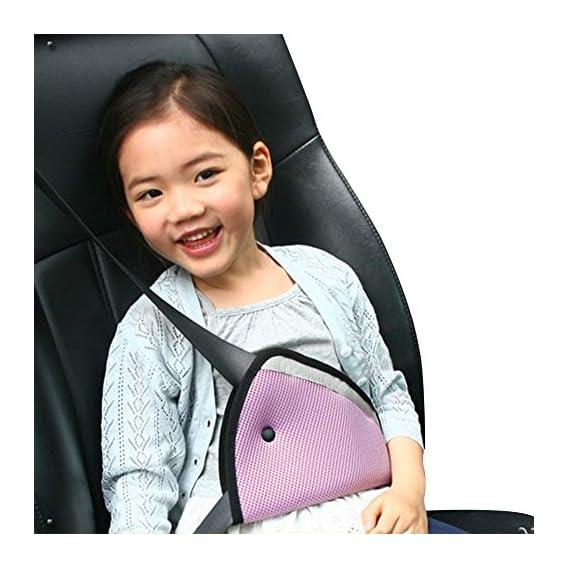 Car Seat Belt Adjuster,Car Safe Fit Seat Belt Adjuster Car Safety Belt Adjust Device Baby (Pink)