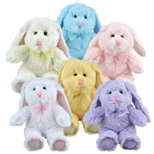 Greenbrier Multipack of 6 Floppy Eared Plush Bunny Animals ()