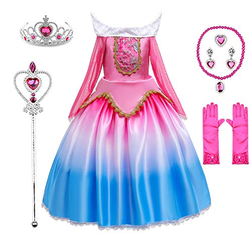 Sleeping Beauty Princess Aurora Costume Birthday Party Halloween Dress 4T 5T (120CM,New ()