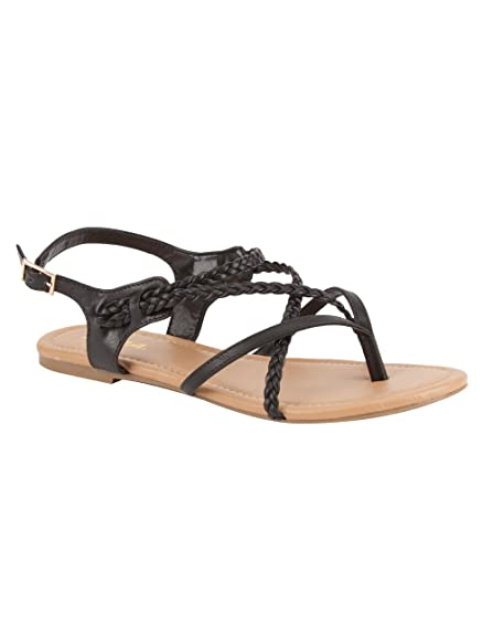 858d17378a95c SODA Criss Cross Braided Sandals