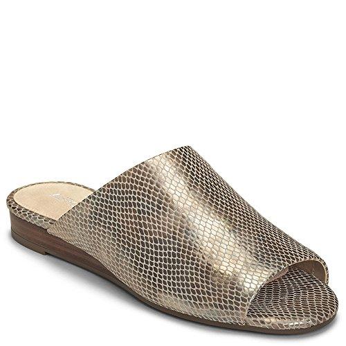 Aerosoles Suede Sandals (Aerosoles Women's Bitmap Slide Sandal, Bronze Snake, 7.5 M US)