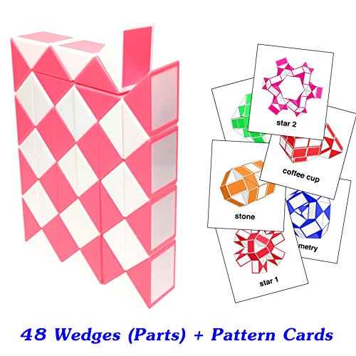 Speed Racer Costume Shirt (Rubik Snake Twist Puzzle 48 Wedges (Parts) with Pattern Cards Standard Size 1.3 inch for each Part)