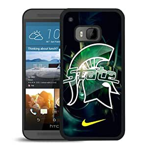 Michigan State Spartans Black HTC ONE M9 Screen Phone Case High Quality Handmade Cover