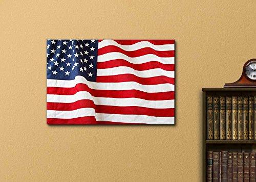 Closeup of Ruffled American Flag US Flag Wall Decor
