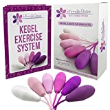 Intimate Rose Kegel Exercise Weights - Doctor Recommended Pelvic Floor Exercises - Set of 6 Premium Silicone Kegel Balls for Tightening & Control with Training Kit for Women: Beginners & Advanced