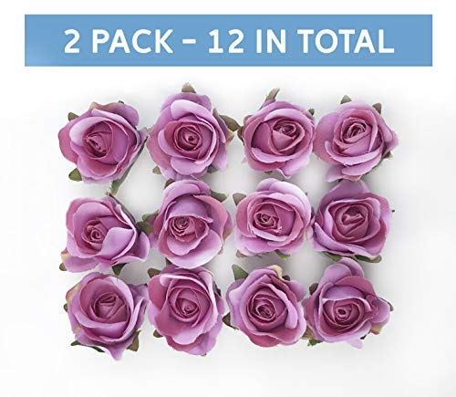 Tassel Toppers Peel and Stick Flat Back Roses for Grad Cap Decoration - Assorted Colors - Flowers, Floral Stickers, Adhesive Backed Roses (Light -