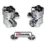 XS-Power AUDI 2.7L Splitter Silver Polished Diverter Valve RS6 RS4 KO4 B5 S4 DV X 2
