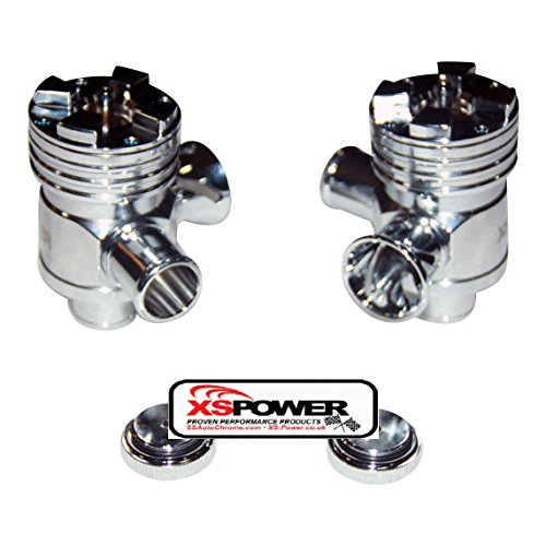 XS-Power AUDI 2.7L Splitter Silver Polished Diverter Valve RS6 RS4 KO4 B5 S4 DV X 2 by XS Power