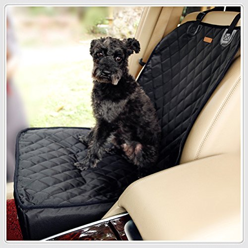 Kuke Pet Car mat Safety Car Seat Pet Carrier Travelling Car Cushion for Dog Cat to Protect Car Seat from Pet Hair or Mud | Effortless Installation | (Black)